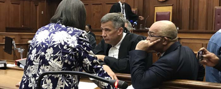 Patricia de Lille talking with her legal team in the Western Cape High Court on 11 May 2018. Picture: Monique Mortlock/EWN.
