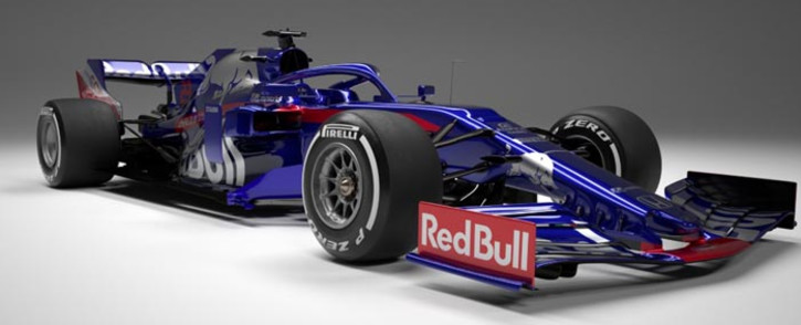 The Italy-based team, Toro Rosso, has pulled the covers off their 2019 car, STR14. Picture: @ToroRosso/Twitter.