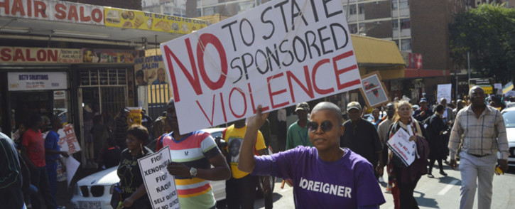 Thousands of people took part in the anti-xenophobia march, calling for end to attacks on foreign nationals in Johannesburg on 23 April 2015. Picture: Emily Corke/EWN.