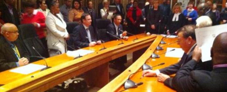 FILE: The Western Cape leadership at the Provincial Legislature. Picture: EWN
