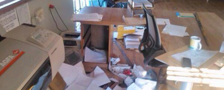 Striking Numsa members allegedly vandalised property on the East Rand on 3 July 2014. Picture: Twitter.
