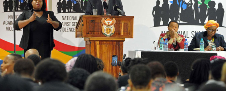President Cyril Ramaphosa speaking at the Southern African Clothing and Textile Workers' Union's national congress in Durban on 16 September 2019. Picture: @PresidencyZA/Twitter