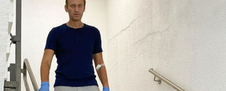 Russian opposition leader Alexei Navalny in Berlin's Charite hospital. Picture: @navalny/ Instagram
