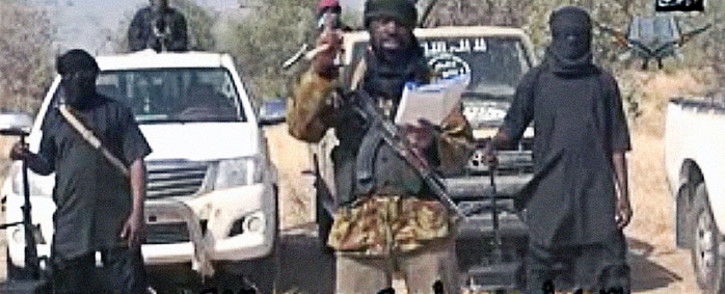 FILE: A screen grab from a Boko Haram video shows the leader of the terrorist group Abubakar Shekau delivering a message. The 35-minute message was posted on YouTube. Picture: AFP/Boko Haram