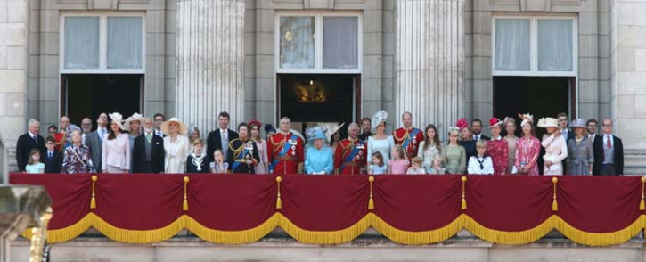 FILE: The Queen along with members of the British royal family watch RAF fly past from the balcony of Buckingham Palace. Picture: @RoyalFamily/Twitter
