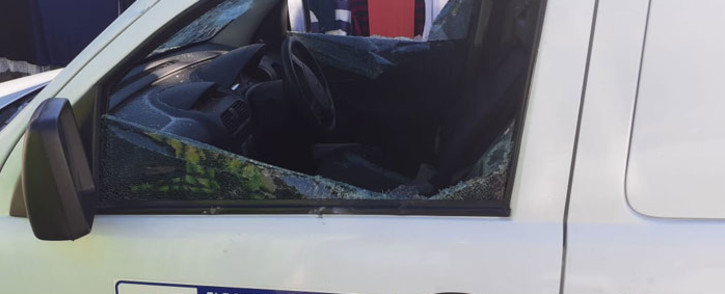 A City of Cape Town was damaged during protest action in Mfuleni on 20 July 2020. Picture: @CityofCT/Twitter