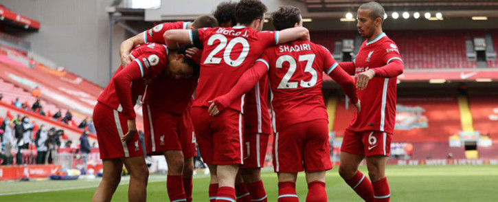 Liverpool climbed into fourth place after Trent Alexander-Arnold's late strike sealed a 2-1 win against Aston Villa. Picture: Twitter @LFC.