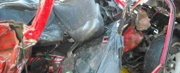 FILE: It's believed the tyre of the vehicle they were driving in burst before it lost control and crashed.