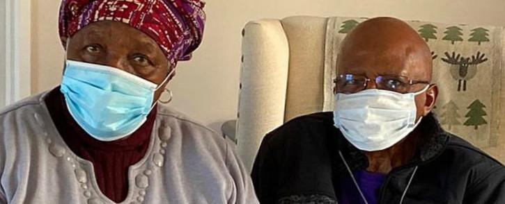 Leah and Archbishop Emeritus Desmond Tutu. Picture: @TutuLegacy/Twitter