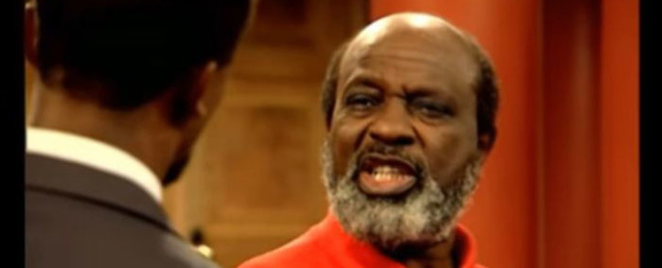 YouTube screengrab of veteran actor David Phetoe.