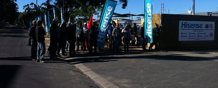 FILE: Unemployed Atlantis residents queue outside the Hisense Factory, hoping to find work. Picture: Carmel Loggenberg/EWN.