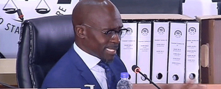 A screengrab of former Cabinet minister Malusi Gigaba appearing at the state capture inquiry on 31 May 2021. Picture: SABC/YouTube