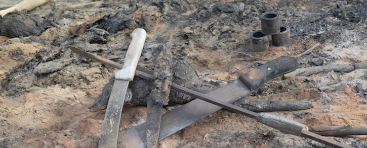 FILE: An illegal initiation school in Gauteng was destroyed by police during raid to save students from harm. Picture: EWN.