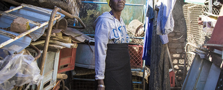 Elizabeth Meisie Pooe, 66 years old, lives in a shack in Kliptown and has been fighting for a home for years. Picture: Thomas Holder/EWN