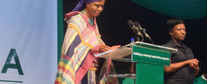 Agang SA leader Mamphela Ramphele speaking at her party's election manifesto launch in Atteridgeville Pretoria on Saturday 8 March 2014. Picture: Thando Kubheka/EWN