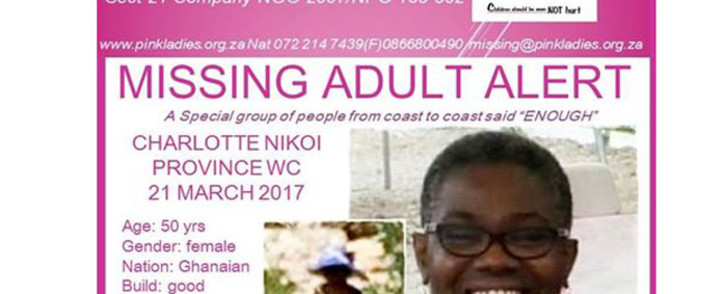 FILE: Charlotte Nikoi was last seen on 21 March 2017. Picture: Facebook.com
