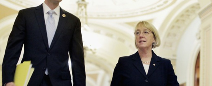 House Budget Committee Chairman Paul Ryan (L) and Senate Budget Committee Chairman Patty Murray (R) at the US Capitol on December 10, 2013 in Washington, DC. Picture: AFP.