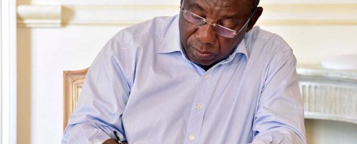 President Cyril Ramaphosa. Picture: @MYANC/Twitter