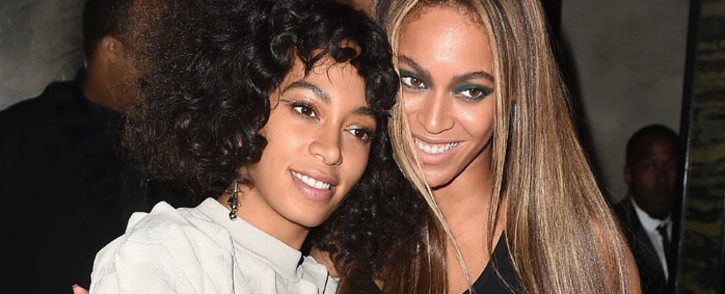 FILE: Solange Knowles and Beyonce attend the Balmain and Olivier Rousteing after the Met Gala Celebration on 2 May 2016 in New York, New York. Picture: AFP.