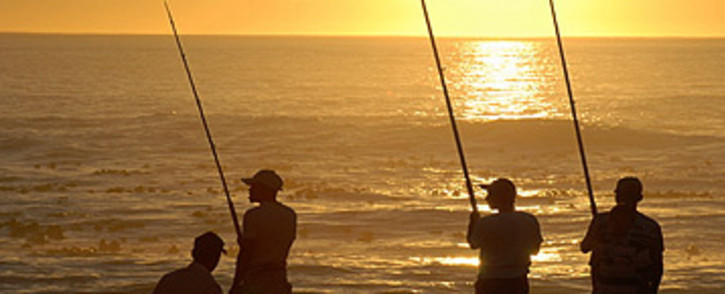 Fisherman in Cape Town. Picture: Eyewitness News