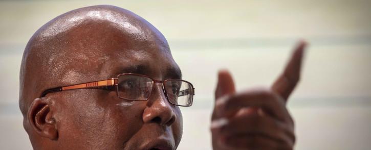 Minister of Health Aaron Motsoaledi breaks down the NHI Bill. Picture: Thomas Holder/EWN