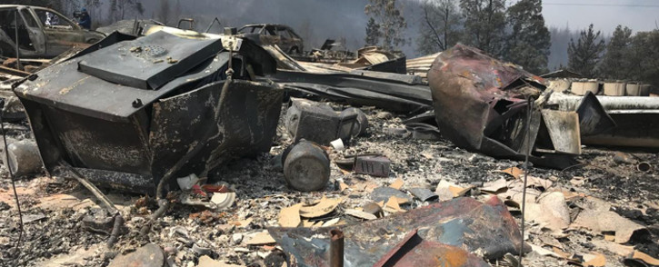 FILE: The aftermath of a fire which destroyed 13 houses in Farleigh Forest in Karatara in the Southern Cape on 30 October 2018. Picture: Monique Mortlock/EWN.