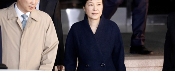 FILE: South Korea's ousted leader Park Geun-hye leaves a prosecutor's office in Seoul on 21 March, 2017. Picture: AFP