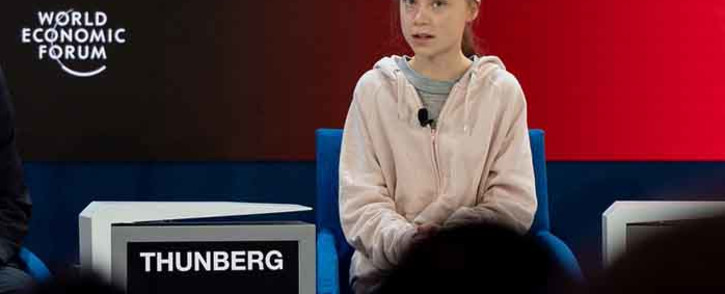 FILE: Climate activist Greta Thunberg at the World Economic Forum in Davos on 21 January 2020. Picture: World Economic Forum/Sandra Blaser