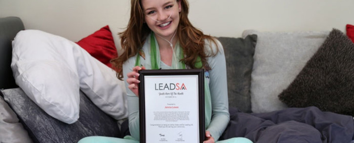 Jenna Lowe, who is fighting a rare lung disease. Picture: LeadSA.