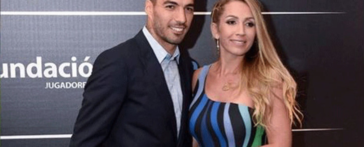 Luis Suarez and wife Sofia Balbi. Picture: @luissuarez9/Instagram.