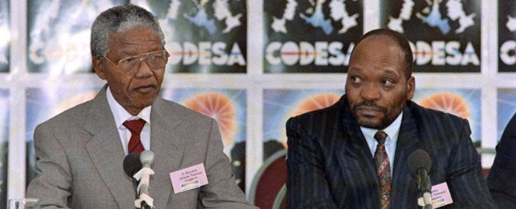 FILE: ANC President Nelson Mandela (left) and Jacob Zuma attend a two-day Convention for a Democratic South Africa (Codesa) on 21 December 1991, in Johannesburg. Picture: AFP.
