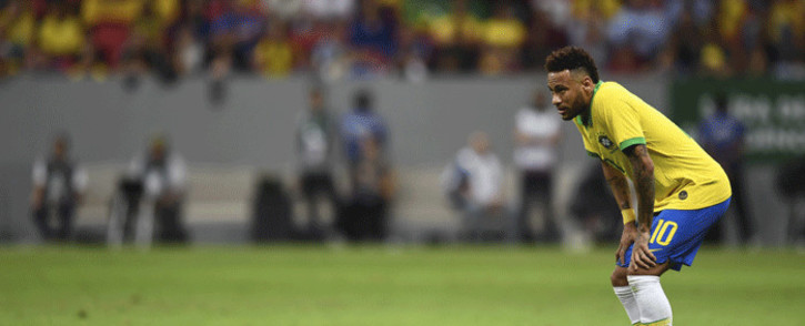 "FILE: A team spokesman said Neymar ""felt discomfort"" in his left thigh and would be examined by PSG doctors once he was back in France. Picture: AFP."