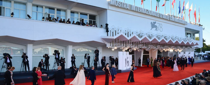 Guests arrive for the opening ceremony on the opening day of the 78th Venice Film Festival, on 1 September 2021 at Venice Lido. Picture: Miguel Medine/AFP