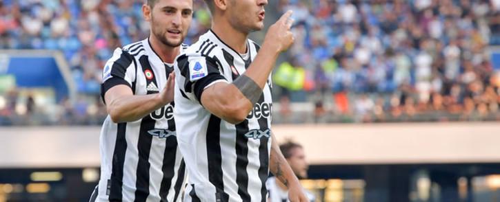Picture: Juventus forward Alvaro Morata (foreground) celebrates a goal. Picture: @juventusfcen/Twitter