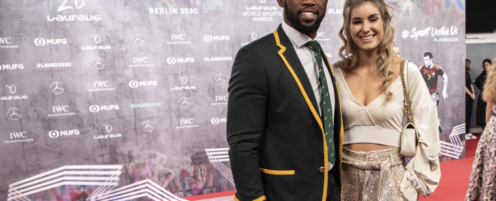 Siya and Rachel Kolisi on the red carpet of the Laureus World Sports Awards 2020 in Berlin, Germany on 17 February 2020. Picture: Abigail Javier/EWN