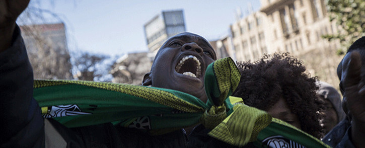 FILE: ANC Mpumalanga provincial members gathered to marched on Luthuli House in Johannesburg, calling on the NWC to dissolve the provincial leadership on 27 August 2018. Picture: Sethembiso Zulu/EWN.