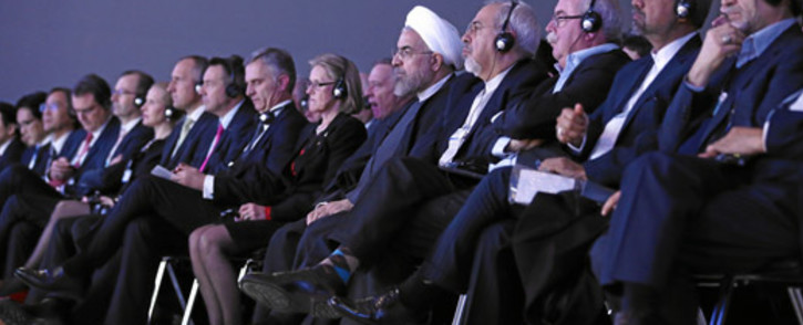 World leaders, politicians and business people listen to a discussion at the World Economic Forum's 2014 meeting. Picture: swiss-image.ch