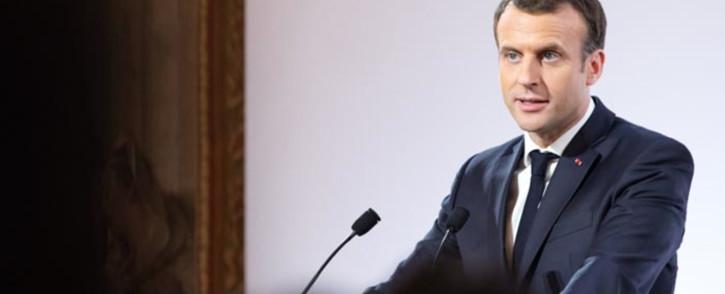 French President Emmanuel Macron. Picture: @EmmanuelMacron/Twitter.