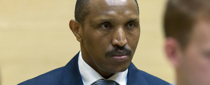 FILE: Congolese warlord Bosco Ntaganda sits in the courtroom of the International Criminal Court (ICC) during the first day of his trial in the Hague, on 2 September 2015. Picture: AFP.