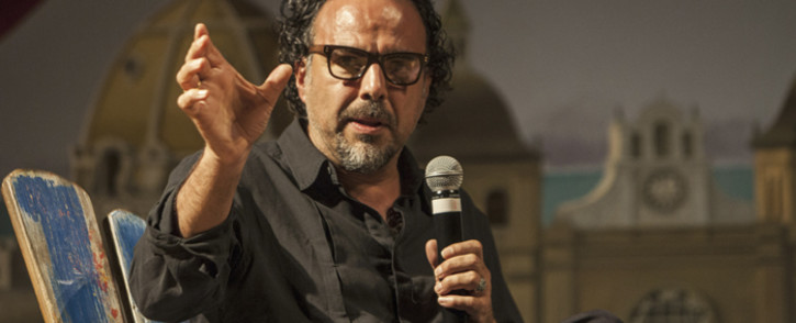 Mexican Film Director Alejandro Gonzalez Iñarritu speaks during a tribute to his career at the 54th Cartagena Film Festival on 16 March 2014. Picture: AFP.