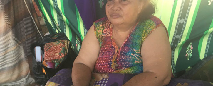 Indonesia earthquake survivor Harina Moro recalls her rescue. Picture: Ziyanda Ngcobo/EWN