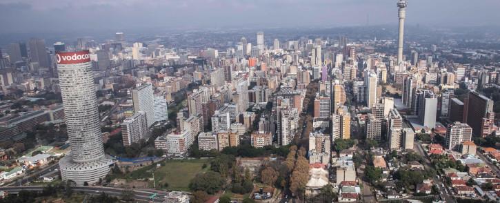 Aerial view of Johannesburg CBD. Picture: Abigail Javier/EWN