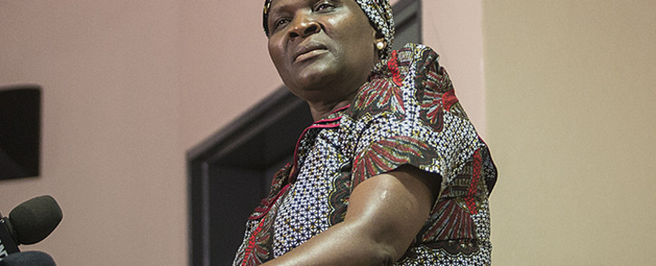 FILE: Suspended National Police Commissioner Riah Phiyega held a briefing in Sandton while investigations into her involvement in the fatal Marikana shootings which led to the death of over 30 miners. Picture: Reinart Toerien/EWN.