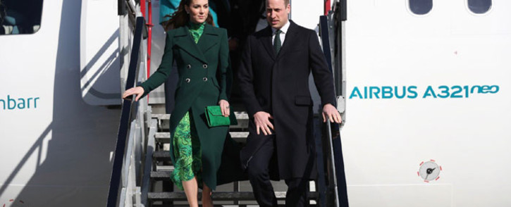 The Duke and Duchess of Cambridge arrive n Dublin for their three-day tour of Ireland on 3 March 2020. Picture: @KensingtonRoyal/Twitter