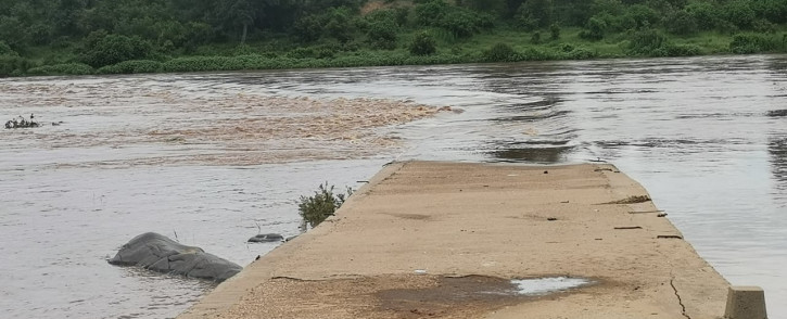 Several bridges are overflowing and closed due to continued heavy rains in the Kruger National Park. Picture: @SANParksKNP on Twitter.