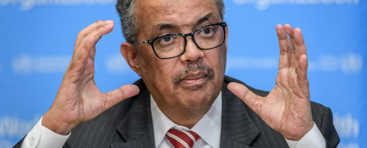 FILE: World Health Organization Director-General Tedros Adhanom Ghebreyesus. Picture: AFP