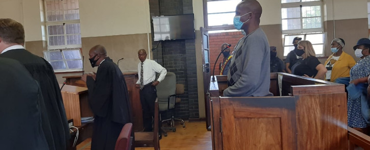 FILE: Sekola Matlaletsa and Sekwetja Mahlamba, two suspects accused of murdering Brendin Horner at the Senekal Magistrates court on 16 October 2020. Picture: Abigail Javier/Eyewitness News.