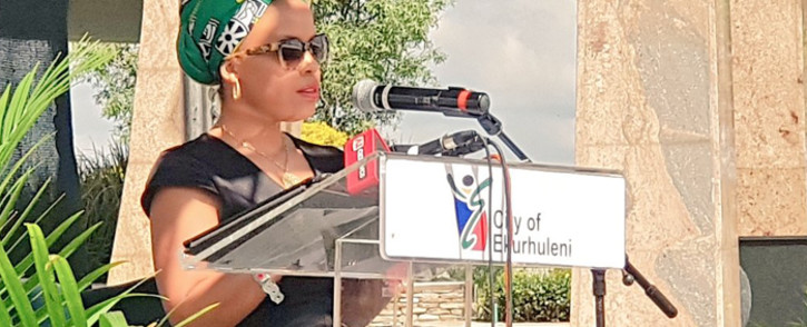 Lindiwe Hani at the 25th anniversary of Chris Hani's death on 10 April 2018. Picture: Twitter/@City_Ekurhuleni
