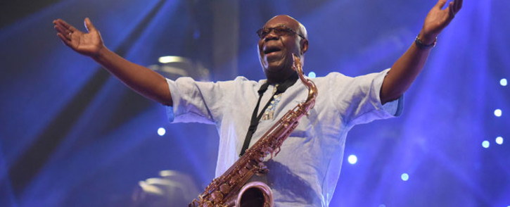 FILE: In this file photo taken on 29 June 2018 Cameroon jazz saxophonist Manu Dibango performs during a concert at the Ivory Hotel in Abidjan. Picture: AFP