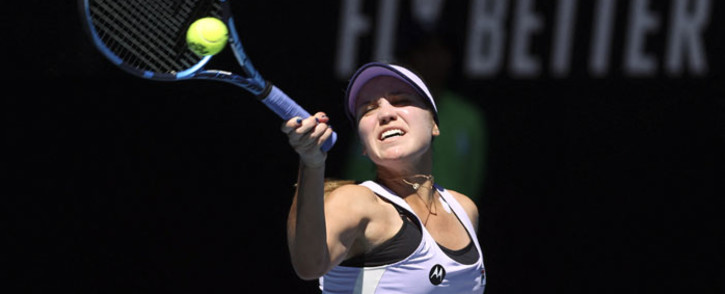 Sofia Kenin of the US hits a return against Australia's Maddison Inglis during their women's singles match on day two of the Australian Open tennis tournament in Melbourne on 9 February 2021. Picture: David Gray/AFP